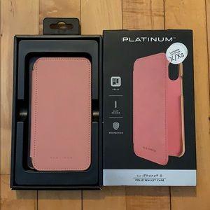 Platinum folio wallet case iPhone X/XS